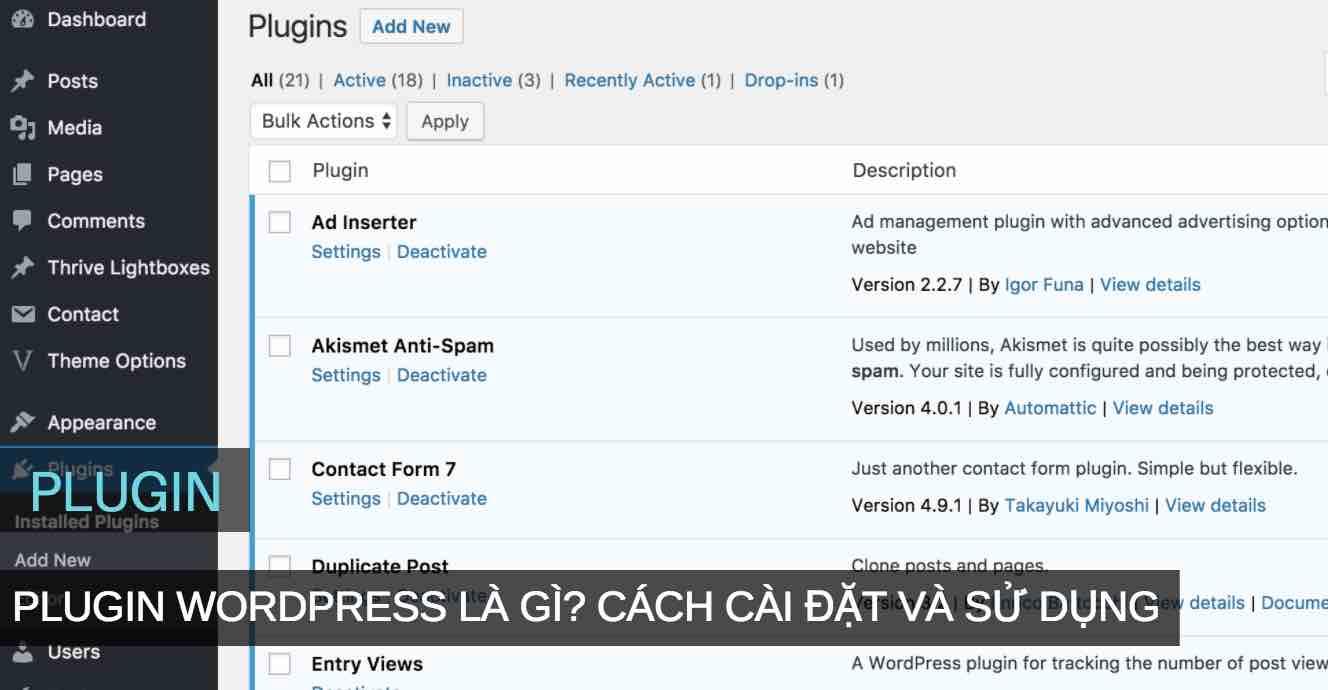 plugin wordpress la gi